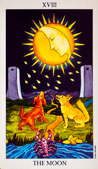 Moon Card Tarot