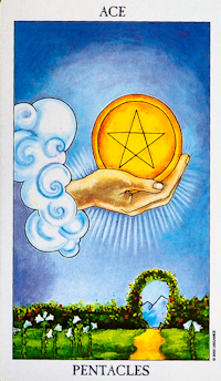 Ace of Pentacles Tarot Card