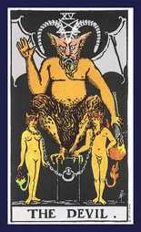 TAROT DEVIL CARD AND ITS MEANING. FIND OUT ABOUT THE DEVIL TAROT CARD.