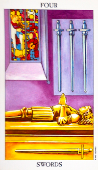 Four of Swords Tarot Card
