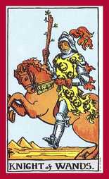 The Knight of Wands Tarot Card