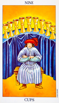 Nine of Cups Tarot Card