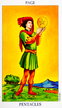 Page of Pentacles Tarot Card
