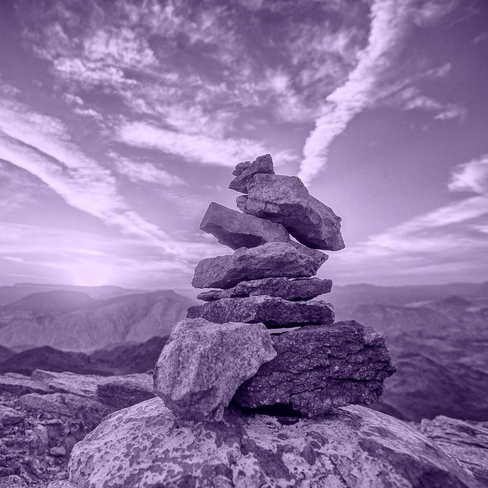 Stack of rocks reaching for the sky