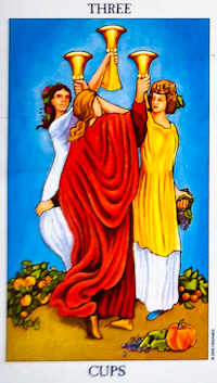 Three of Cups Tarot Card