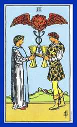 Two of Cups Tarot Card