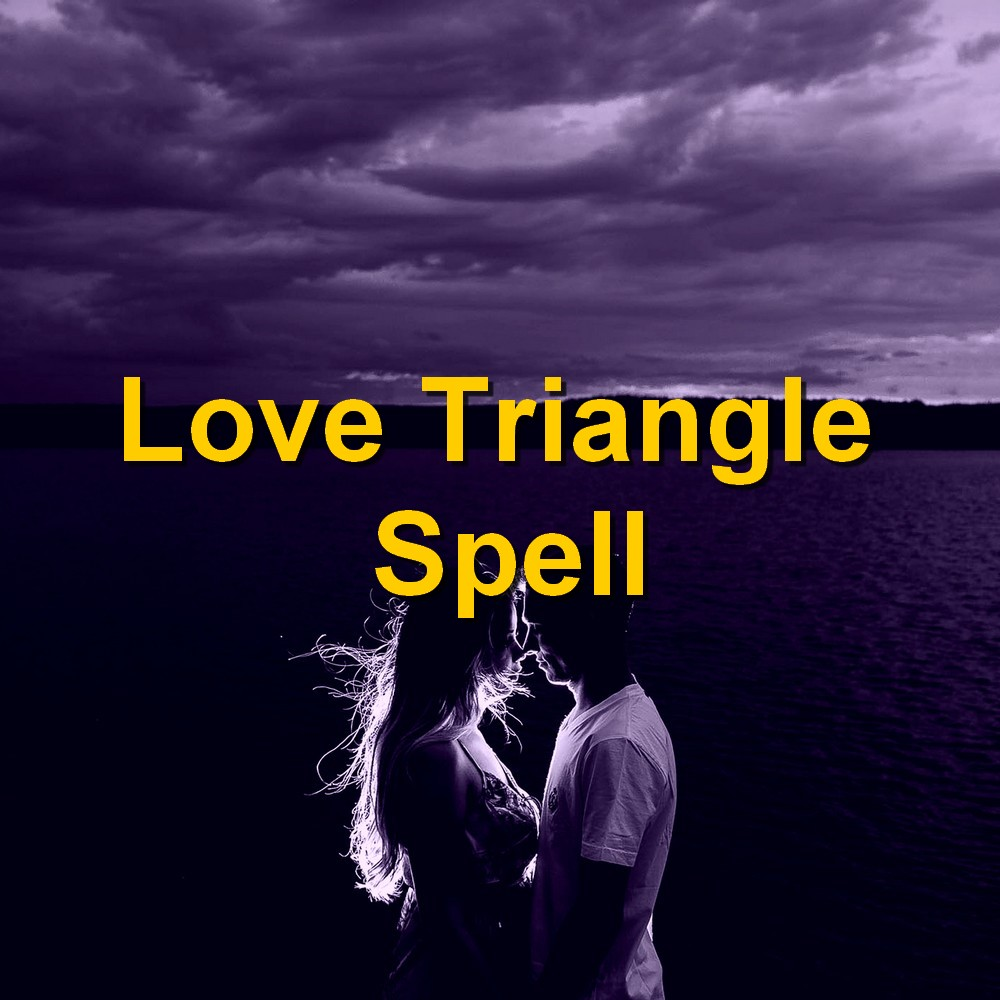 Silhouette romantic couple after Love Spell casting