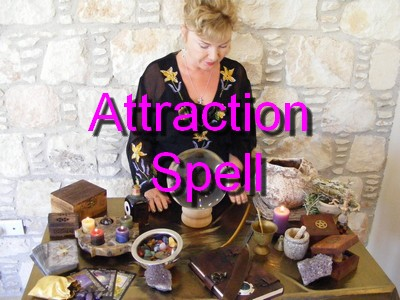 White Witch Alizon casting an Attraction Spell