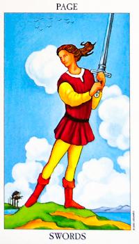 Page of Swords Tarot Card